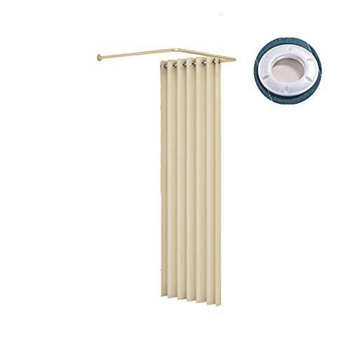 HRD Temporal Vestuario Simple Probador Ahorra Espacio con Estructura de Metal Tela de Sombreado Fácil de Instalar para Centro Comercial Oficina Sala (Color : Beige, Size : 90x90cm)
