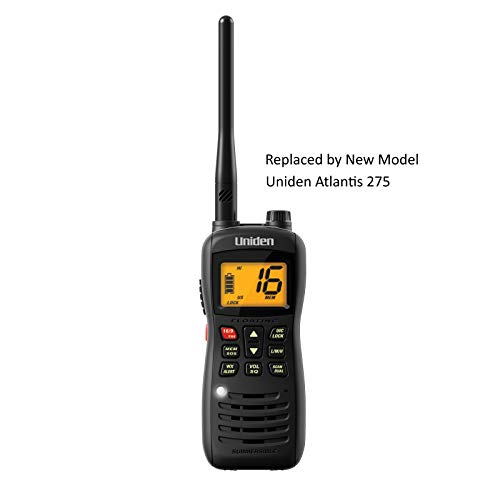Uniden MHS126 Handheld Submersible 2-Way 6W VHF Marine Radio. IPX8/JIS8 WaterProof, Floats for Easy Retrieval. All USA/International and Canadian Marine Channels. N.O.A.A. Weather Channels with Weather Alert.