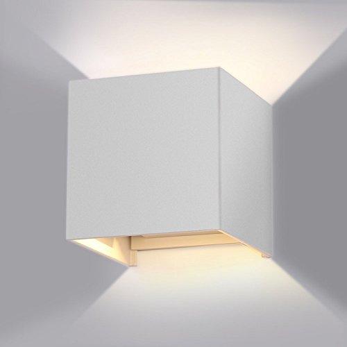 E-lED Cube Applique pour extérieur IP65 40 W en aluminium moulé sous pression Blanc lumière naturelle