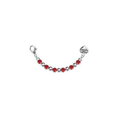 2jewels: Bracciale TOGETHER HAPPYNESS in acciaio e corallo bambù elemento single, crea il tuo bracciale unendo 2 elementi, 131114