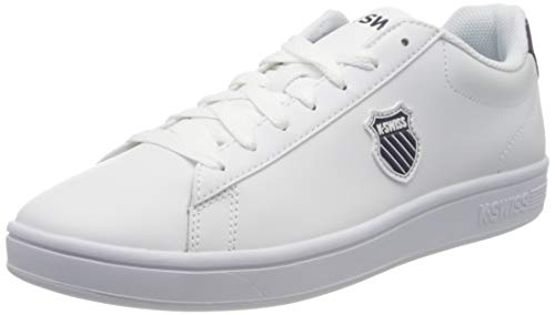 K-Swiss Herren Court Shield Sneaker, Weiß (White/Navy 109), 45 EU