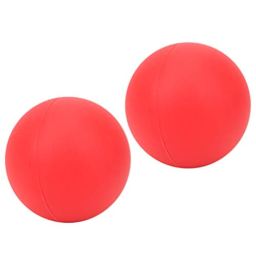 DAUERHAFT Protección del Medio Ambiente Gel de sílice Herramienta de Auto-Masaje Bola de Masaje de Yoga más Duradera 2.4 In, para aliviar el Dolor y el estrés(Red)
