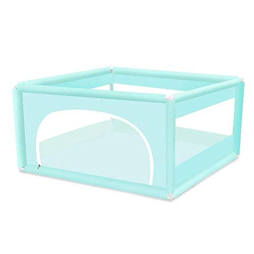 FFYN Parque para bebés, diseño de Cremallera de Valla para bebés Gemelos Visibilidad Neta Transpirable Interior al Aire Libre 5 Colores, 2 tamaños (Color: Verde, Tamaño: 120x120x62cm)