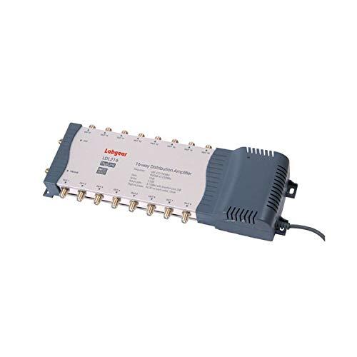 Labgear Amplificador de TV de 16 vías con bypass