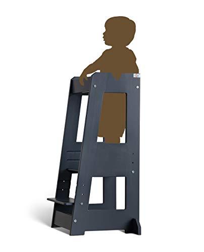 TiSsi Lernturm, Entdeckertum Montessori mitwachsend Buche- 100341, grau