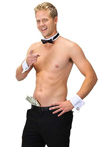 elope Male Dancer Collar and Cuff Costume Set Blackwhite