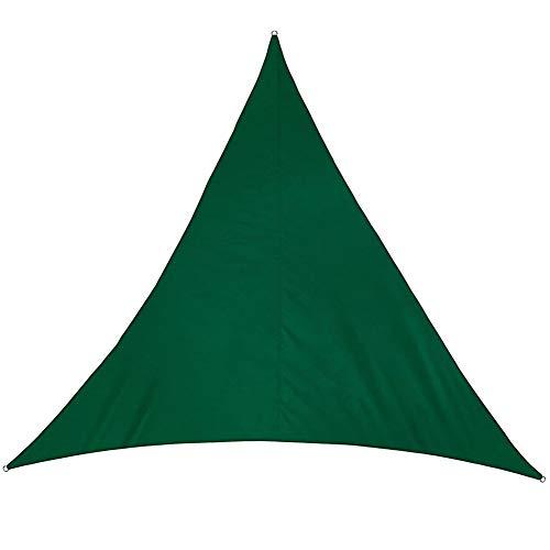 GZHENH-Sichtschutznetz Sonnensegel Dreieck 3D Ziehring Sonnencreme Antioxidationsmittel Verschleißfest Faltenprävention Draussen Polyethylen, 10 Größen, 7 Farben (Color : Green, Size : 6x6x6m)
