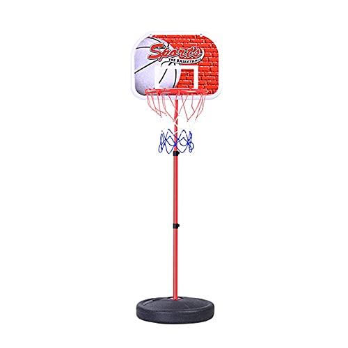 YMDA Soporte de baloncesto, altura ajustable portátil, tablero y aro duradero para niños en interiores y exteriores, soporte de entrenamiento de baloncesto