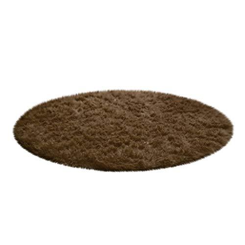 Janly Clearance Sale Decoración para el hogar suave baño dormitorio antideslizante piso ducha alfombra yoga felpa redonda decoración del hogar para el día de Pascua (E)