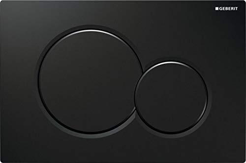 Geberit 115.770. DW. 5 Placca Sigma01, maniglia plastica, nero lucido RAL9005