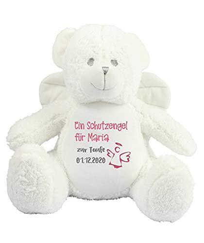Schutzengel Taufe Geburt Kuscheltier Stofftier Teddy Engel für Baby Junge Mädchen mit Name