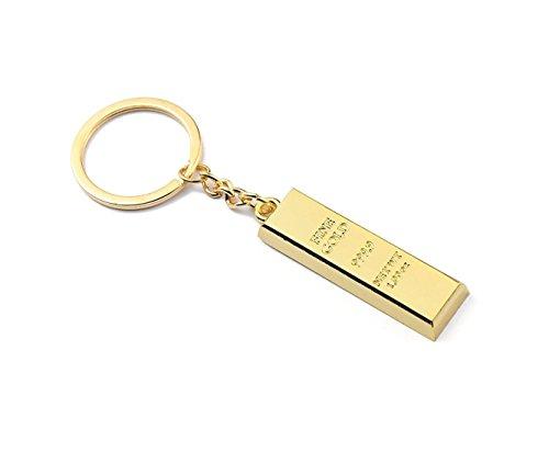 Goldbarren 999er Fine Gold imitat Schlüsselanhänger (2 Stücke)