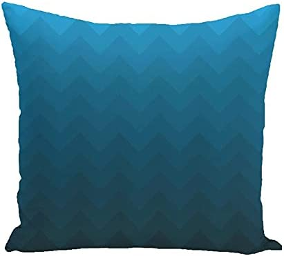 18 Now free shipping Inch Polyester Pillowcovers with Gradient Pat Wave Arrow Max 85% OFF Teal