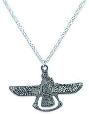 Men bracelet with wings pendant