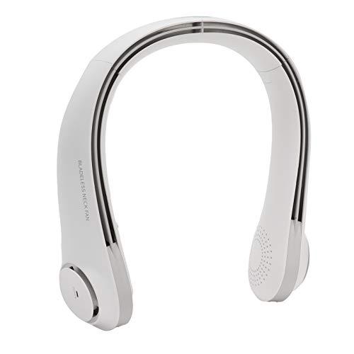 FOTABPYTI Ventilador de Cuello, Ventilador USB Blanco más silencioso ABS + PP Ajustable para Oficina