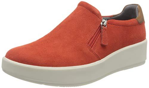 Clarks Layton Step, Zapatillas Mujer, Bright Orange Suede, 39 EU