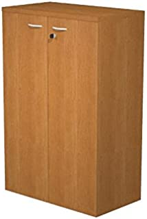 Ideapiu Mobile Laminate Walnut Melamine with Doors without Lock  Mis  80 nbsp x 33 nbsp x 120h  Wardrobe CON2 nbsp Shelves