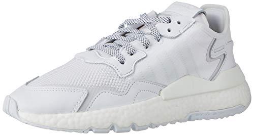 adidas Nite Jogger, Zapatillas de Running Hombre, Footwear White Footwear White Footwear White, 42 2/3 EU