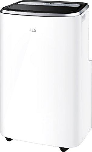 AEG Chillflex Pro Silence AXP26U558HW mobiles Klimagerät (LED Display, Touch-Buttons, Fernbedienung, 30-40 m², Kühlen, Heizen, Ventilator, Entfeuchtungsfunktion, Automatik, weiß/silber/schwarz)