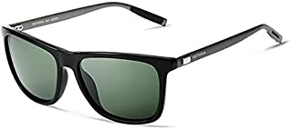TT WARE Men Vintage UV400 Polarized Sunglasses Square Frame Outdooors Driving Glasses-Dark Green