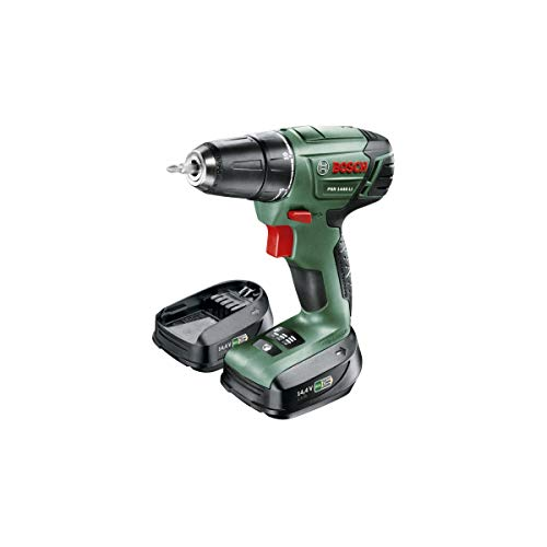 Bosch 060395430M - Atornillador con batería de litio PSR 1440 LI. 14.4 V 1.5 Ah Velocidad Back. Trabajo 12/28 Nm Hole Diameter: Madera 25 mm Syneon Chip with 2 Batteries 14.4 V 1.5 Ah