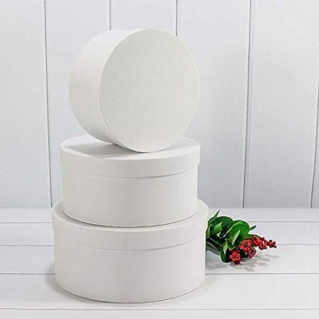 Lot De 3 Boites Rondes A Fleurs Avec Cordon Boite De Rangement Avec Couvercle Boite Cadeau Personnalisable Blanc 1 20 X 9 Cm 2 17 5 X 7cm 3 14 X 6 Cm Amazon Fr Fournitures De Bureau
