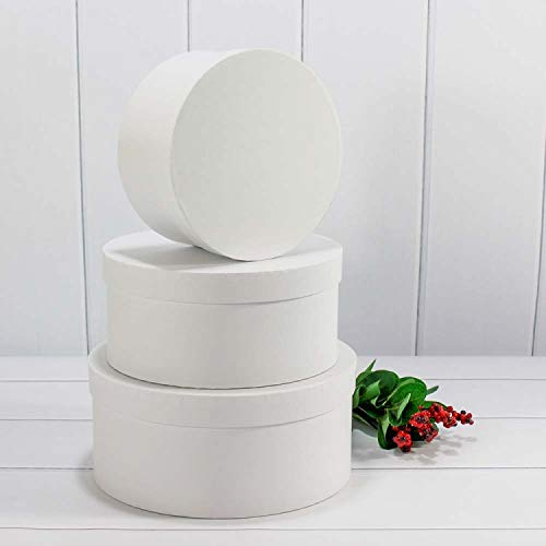 Vipolimex - Juego de 2 cajas redondas con cordel para flores, caja con tapa, caja de color...