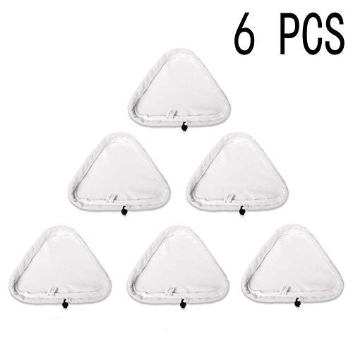 Malayas - Microfibre Washable Cloth Pads,Waschbar Langlebig Ersatztücher Dampfbesen 6er Pack Ersatztücher Dampfbesen Ersatzpads für Dampfreiniger mit Dreieckigem