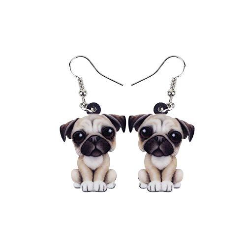 Pendientes de gota con diseño de bulldog francés, diseño de perro y perro,...