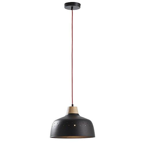 Kave Home - Lámpara de techo Bits negra de 1 bombilla de