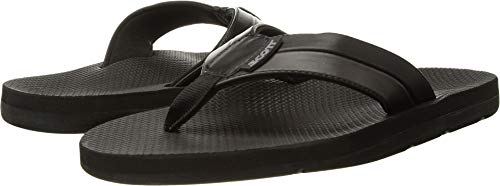 Scott Hawaii Mens Palaole Vegan Leather Sandals, Size 14 Black Neoprene Reef Walking Flip-Flop