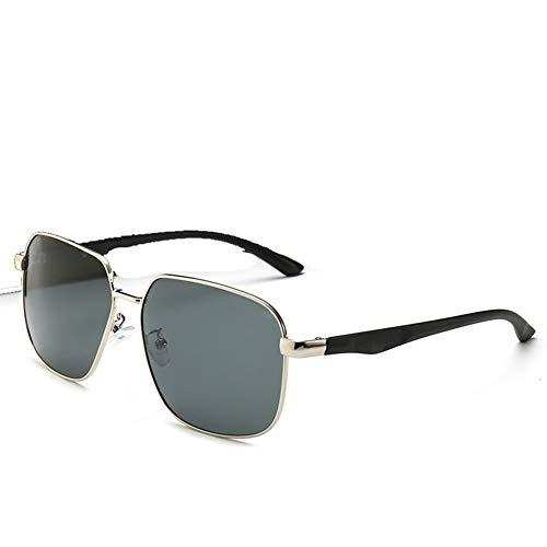 Z&HA Zonnebril voor heren en vrouwen Retro Groot frame platte spiegel Gouden rand Anti UV Anti verblinding rijbril