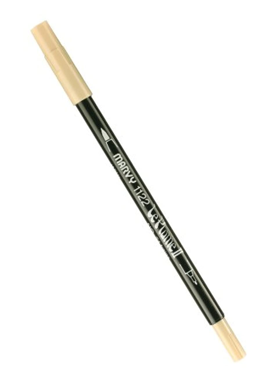 Uchida 1122-C-24 Marvy Extra Fine Tip Le Plume II Double Ender Marker Pen, Beige