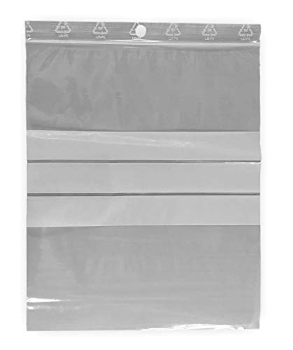 lot de 50 sachets zip 150 x 180 mm avec zone d'écriture- 3 bandes blanches pour écrire sur la pochette- sachet 15x18 cm marque UNIVERS GRAPHIQUE - FACTURE AVEC TVA