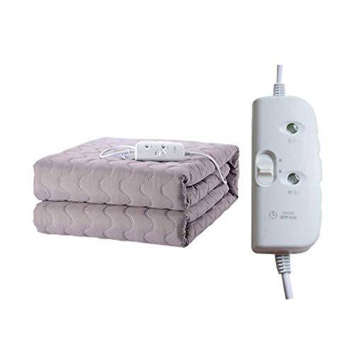 ZZXXMM Manta eléctrica doméstica, Control Dual de protección contra sobrecalentamiento/Incluso calefacción con Control Remoto/se Puede programar de Ahorro de energía, 180X150cm