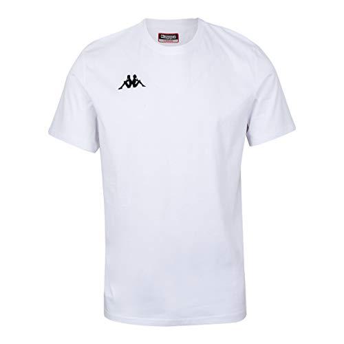 Kappa Meleto Camiseta, Hombre, Blanco, 4XL