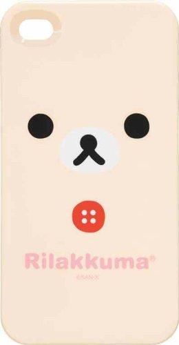 リラックマ iPhone4用ソフトカバー(コリラックマ/顔どアップ) CS83401(-)