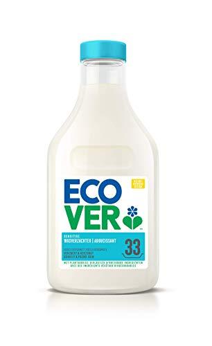 Ecover Adoucissant Parfum Rose/Bergamotte Origine Naturelle/Doux pour Votre Peau/Votre Linge 33 Utilisations, Blanc, 1000 millilitre