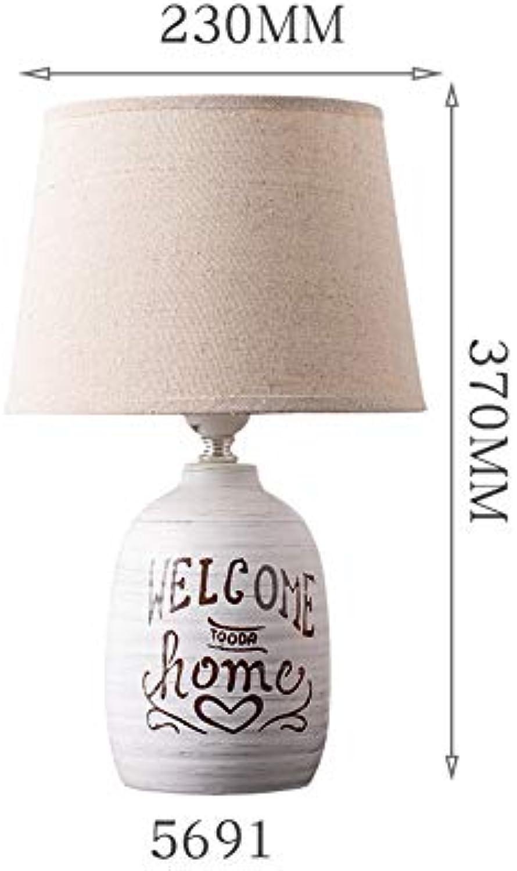 LIU UK Table Lamp Keramische Tischlampe Schlafzimmer Nachttischlampe, Nordic Kreative Einfache Moderne Mode Warme Tischlampe, 220 V E14 Lampe Mund (gre   5692)