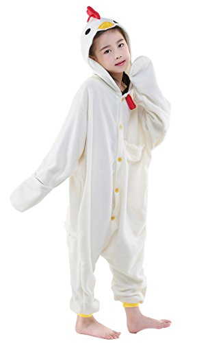 CANASOUR Christmas Animal Costumes Anime Cosplay Kids One Piece Pajamas (10(125#), Chicken White)…