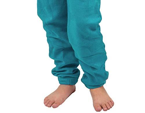 Gennadi Hoppe Kinder Jumpsuit - Jungen, Mädchen Onesie Jogger Einteiler Overall Jogging Anzug Trainingsanzug, türkis,158-164 - 6