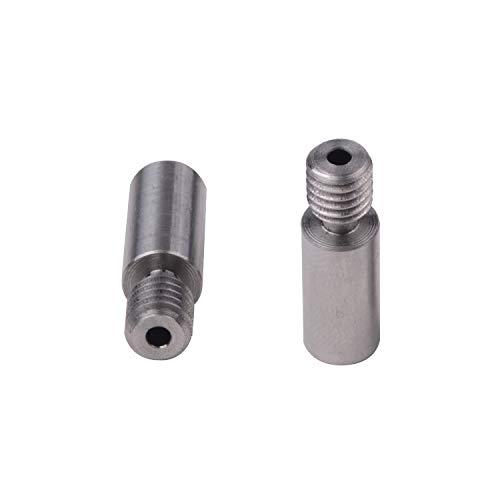 2pcs Super Smooth Titanium Alloy Thermal Heat Break Throat TC4 Thermal Barrel for V6 Kraken/Chimera/Cyclops Hotend 3D Printer
