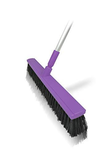 Harold Moore Unisex's paarse stal en werf bezem 60cm