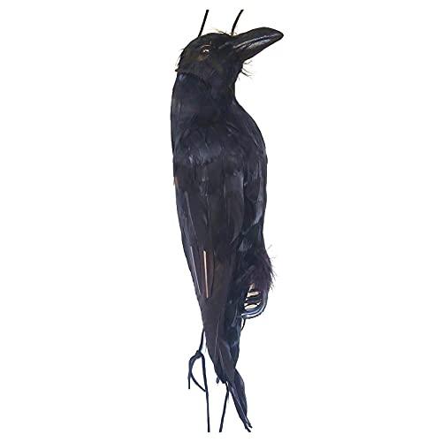 Mimei Cuervo Realista Colgante Cuervo Props Decoración Decoración De Halloween Prop, Natural Peso Ligero Reutilizable, para El Jardín, Terraza, Patio Delantero, Césped Hogar Enhanced