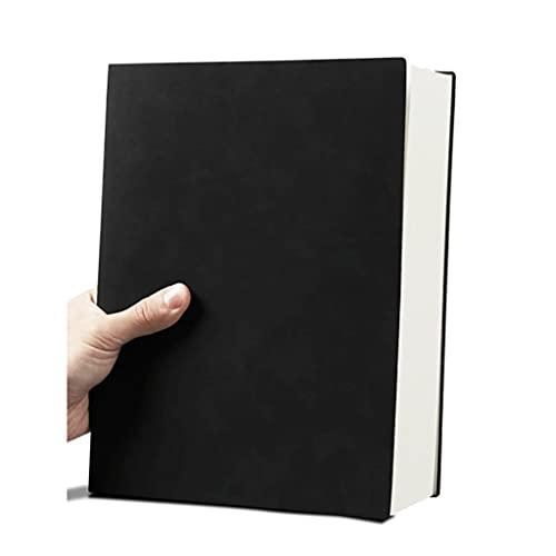 LWSX Diario Engrosado y Exquisito línea Horizontal B5 Notebook para Escribir Diario Soft Funda Muy Adecuada para la Oficina de la Escuela Inicio (Color : Black)