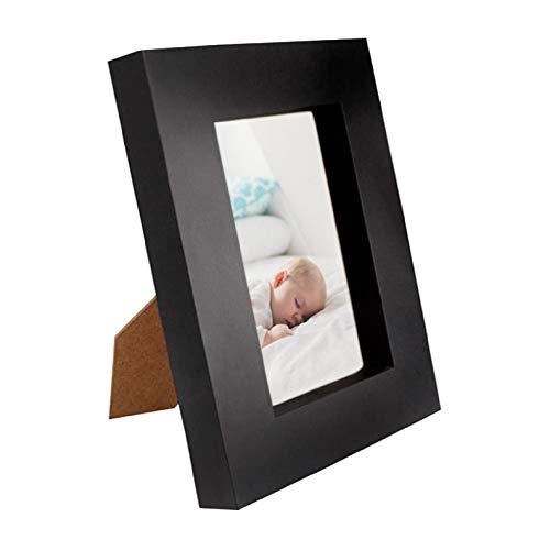 Ofidosel Portaretratos plastico para fotografías. Porta Retratos Sencillo de Fotos 16 x 21 cm clásico y Elegante con Soporte de...