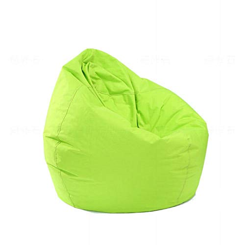 Mekysd Home Soft Lazy Sofa Cozy Single Chair Durable Furniture Unfilled Lounge Bean Bag (Green)