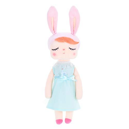 UEXCN Dreameryoly Kaninchen, schlafender Vintage-Stil, Plüsch-Spielzeug, rosa Ohren, trägt ein Kleid, dekorieren Sie Ihr Zuhause