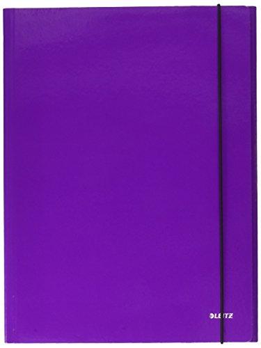 LEITZ WOW cartella a 3 lembi con elastico - Viola metallizzato - 39830062