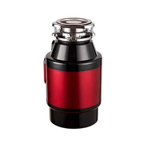 WANGLXST Durevole Frantoio Silenzioso per lavello, frantoio per rifiuti Alimentari durevoli per Cucina, eliminazione del Rumore, Interruttore dell'Aria Incorporato da 750 W Cucina, Red